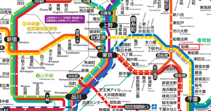 千葉県船橋市 アクセス方法