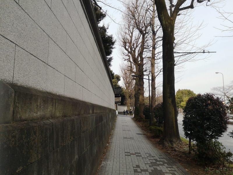 歩道が斜め